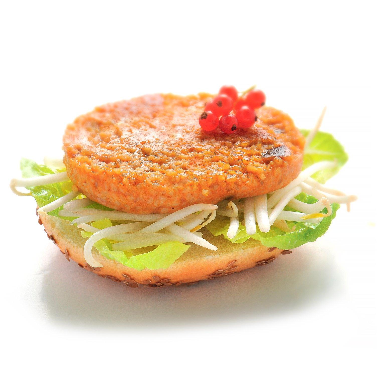 Burger avec galette végétale au boulgour parmesan et aubergines