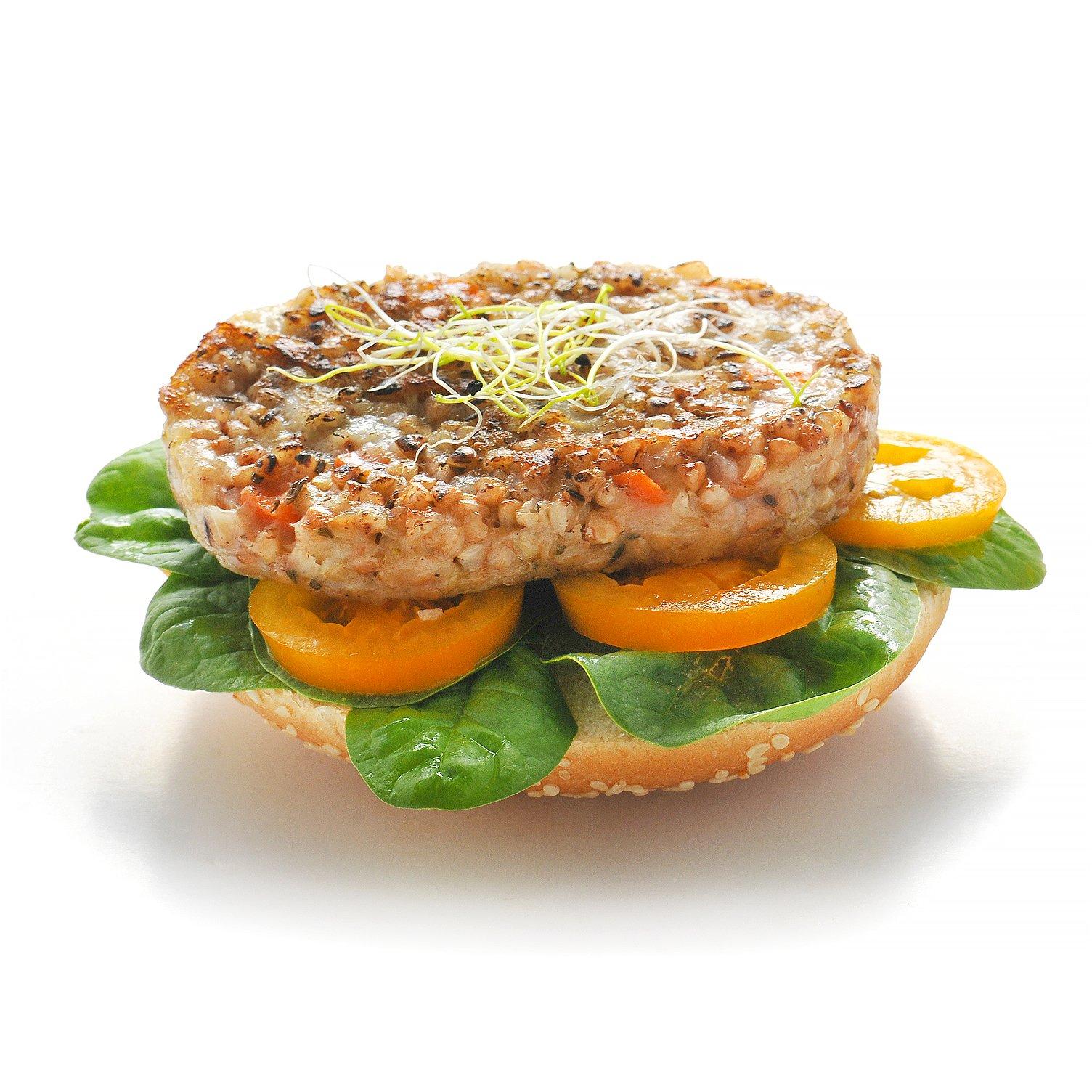 Burger avec galette végétale au sarassin emmental