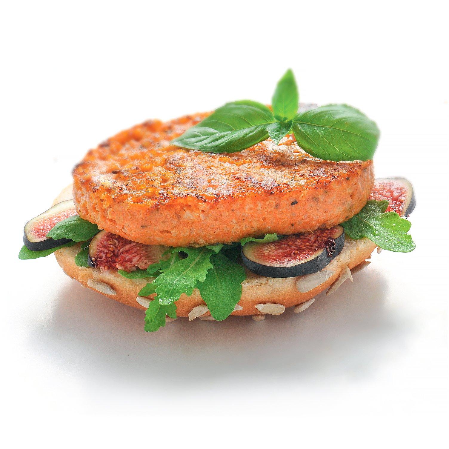 Burger avec galette végétale au millet & provençale
