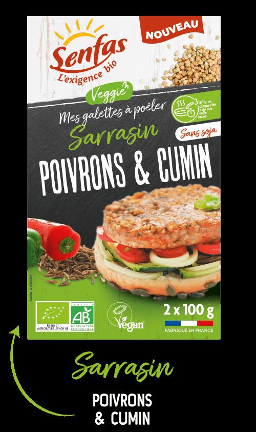 Galette sarrasin poivrons & cumin Senfas