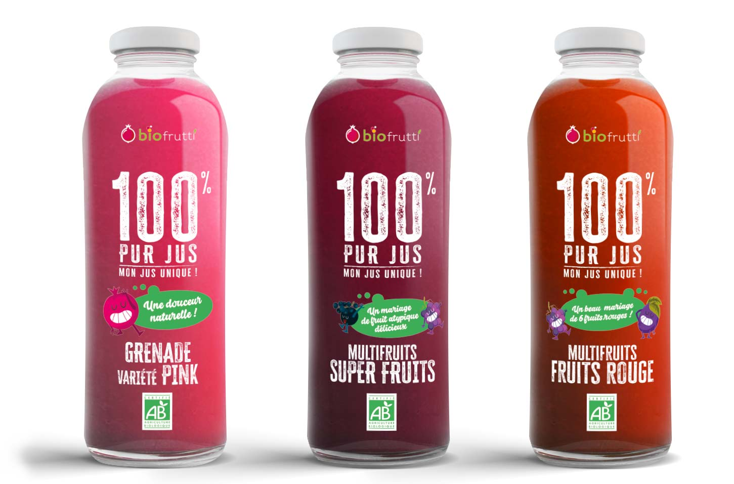 Breande pink et multifruits 100% pur jus Biofrutti