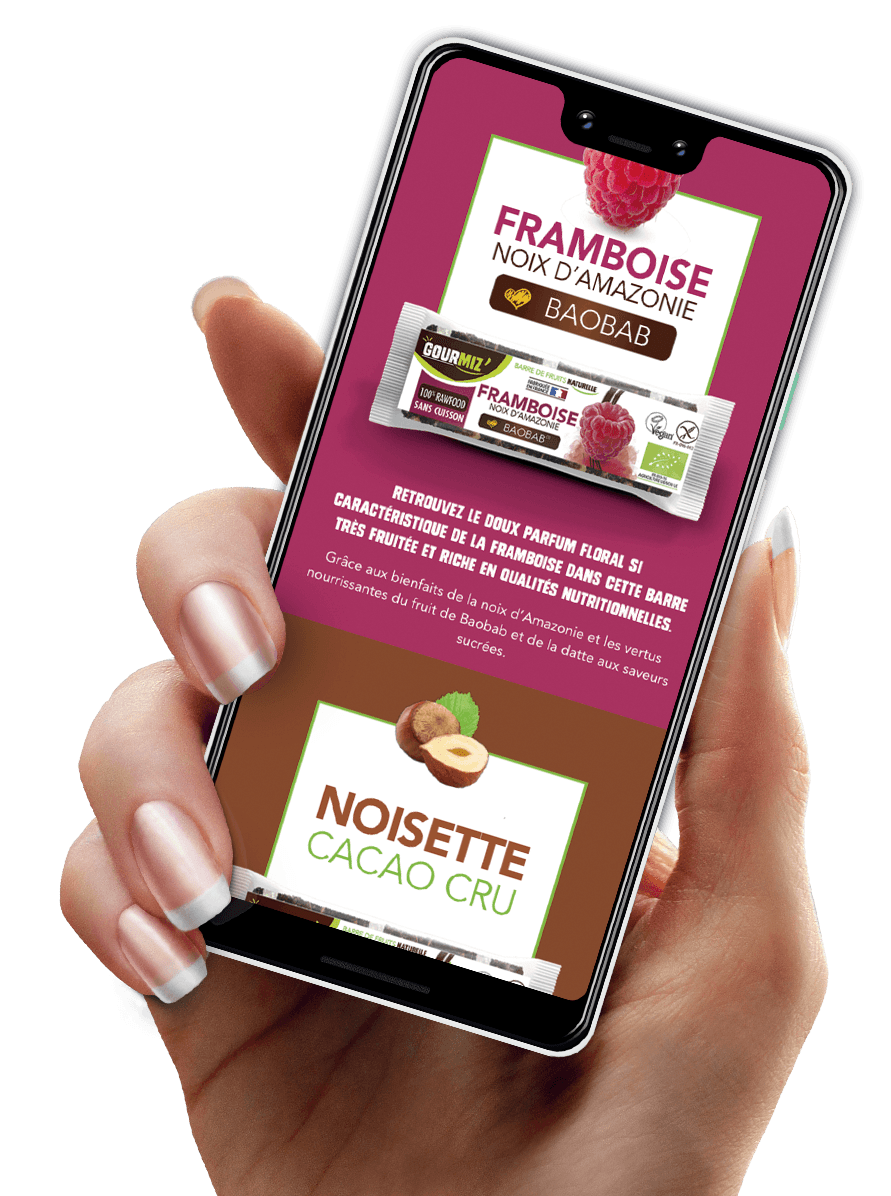 Main mobile site Gourmiz'