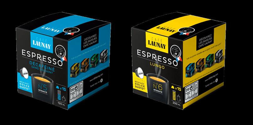 Packs décaféiné et lungo capsules Docle Gusto® Café Launay