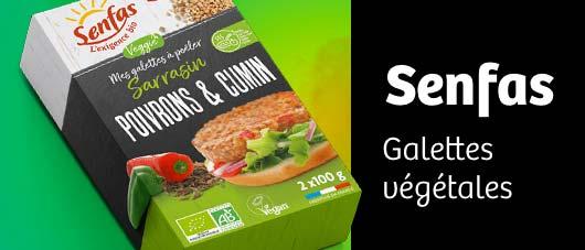 Projet packagin galettes végétales Senfas