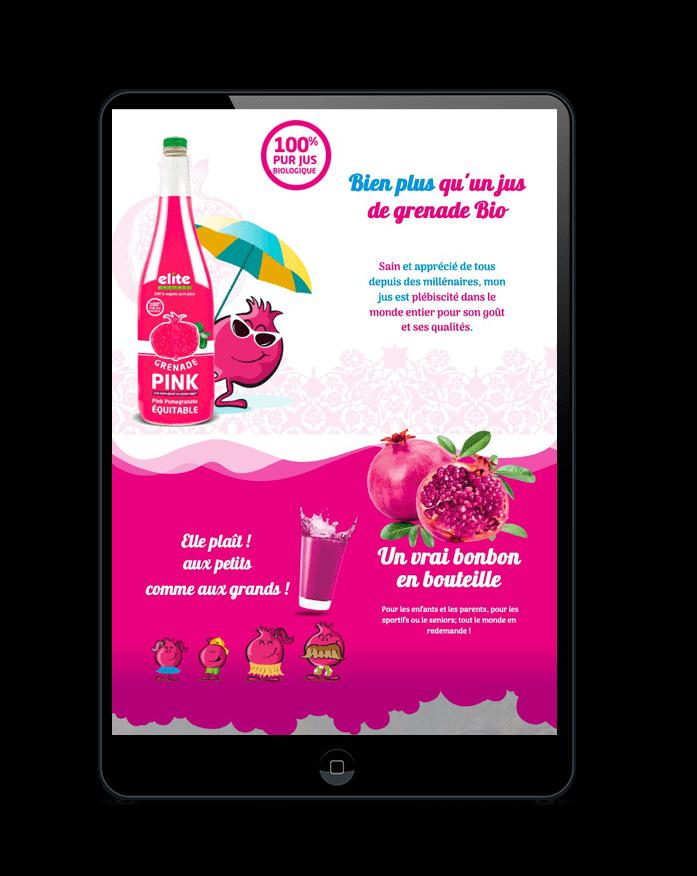Tablette - site GRENADE PINK