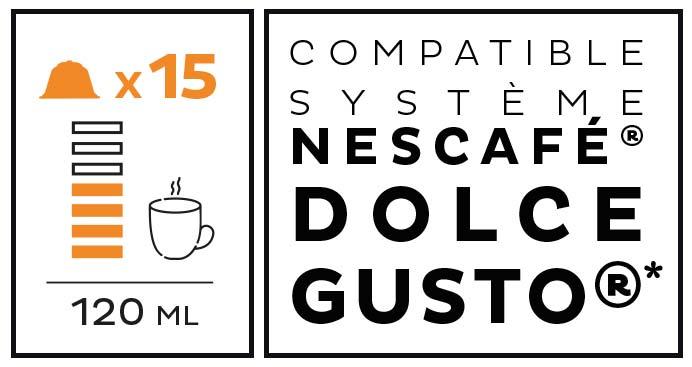 Système Compatible système Nescafé® Dolce Gusto®