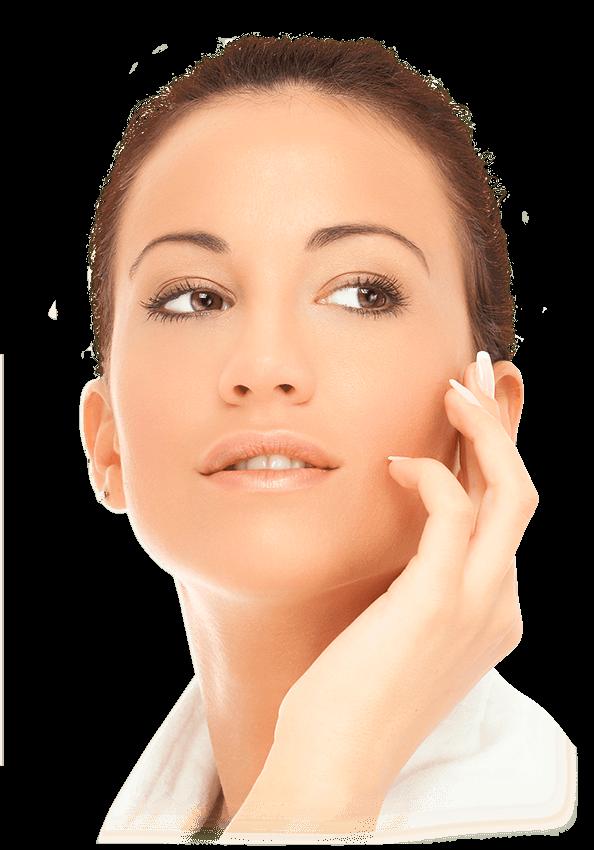 Visage femme cosmétique