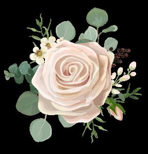 Fluers Roses détourées