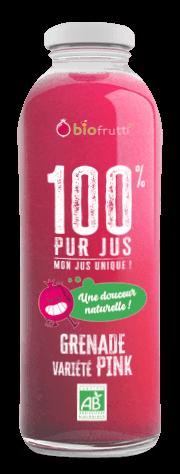 Grenade Pink 100 % purs jus 750 ml Biofrutti