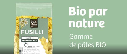 Projet Bio par nature - Gamme de pâtes