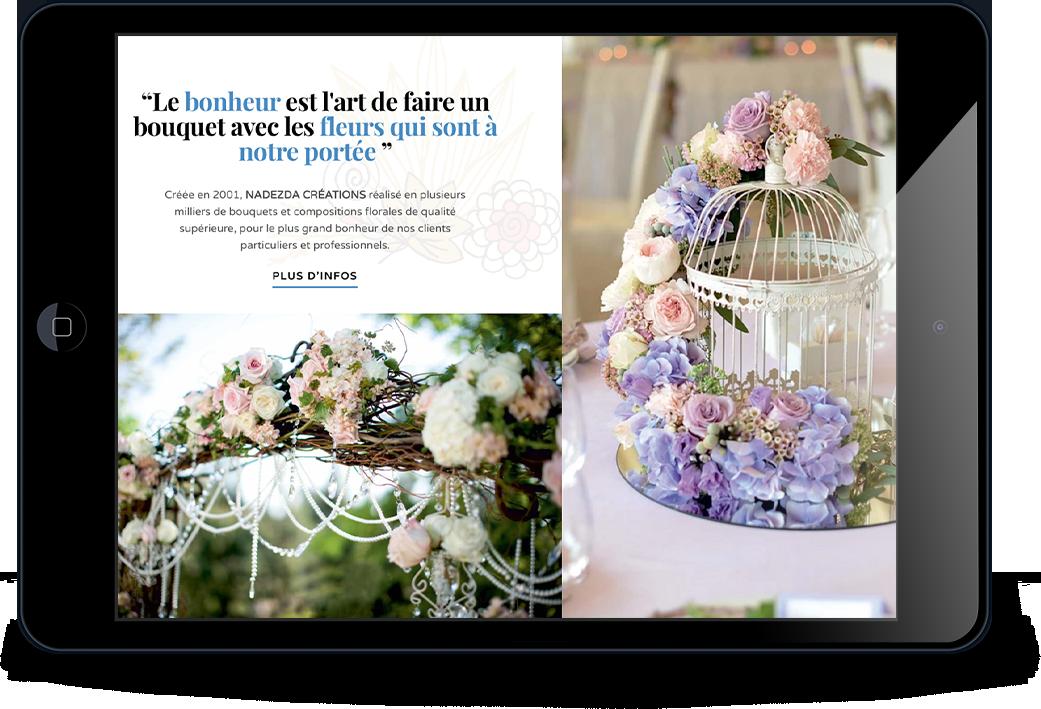 Home Fleurs Création sur tablette