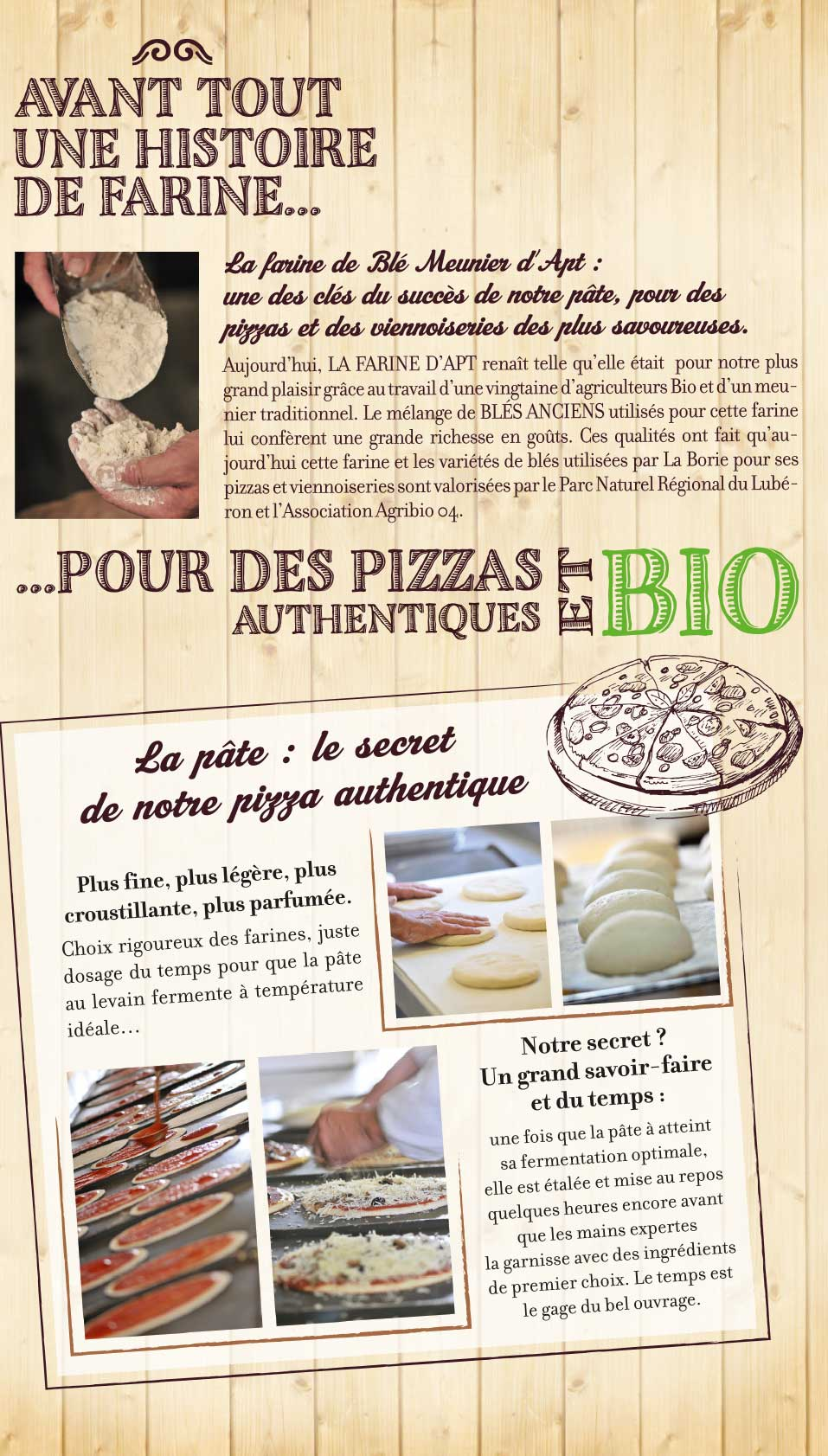 Détail storytelling packaging LA Borie Bio