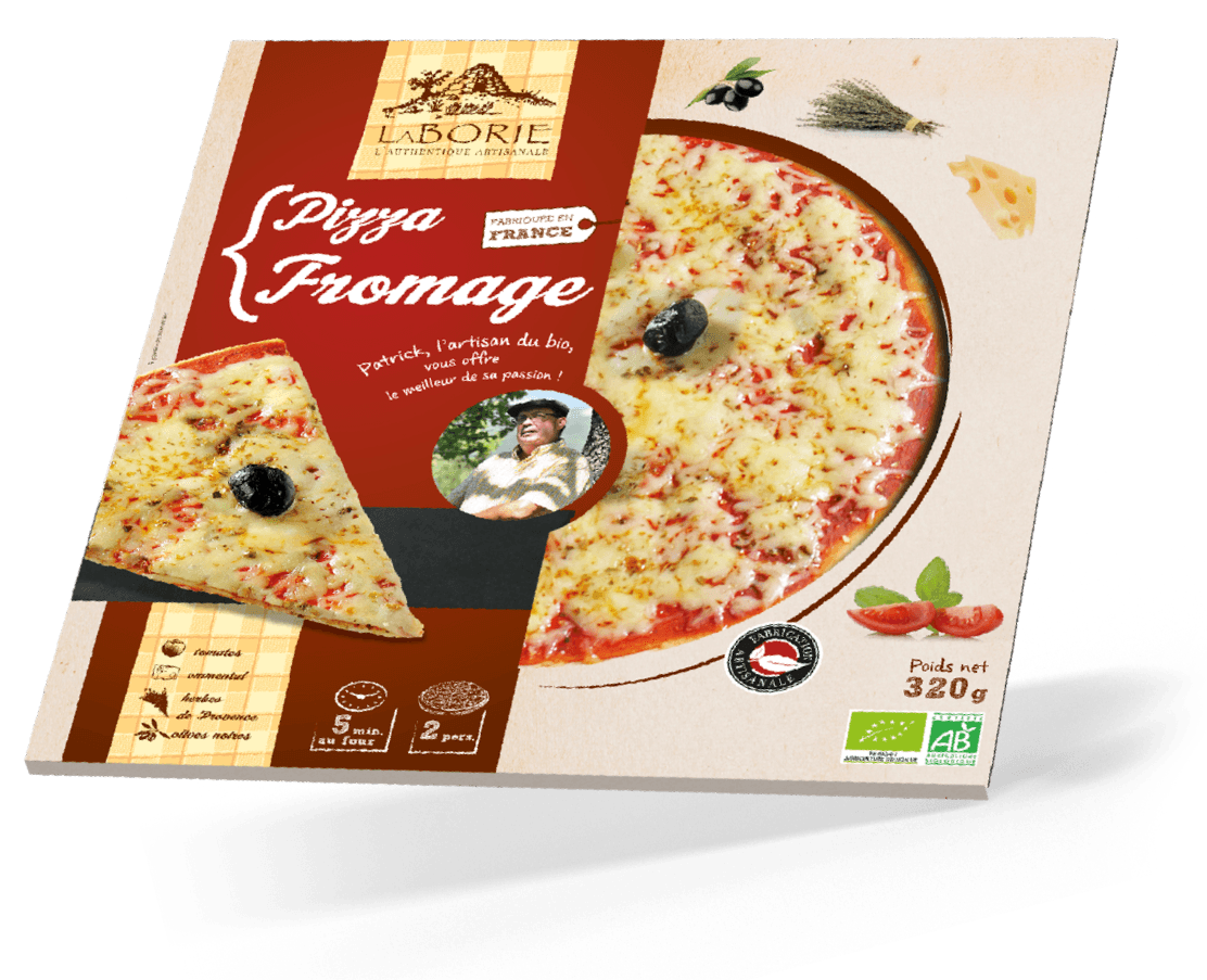 Pack pizza fromage La Borie bio