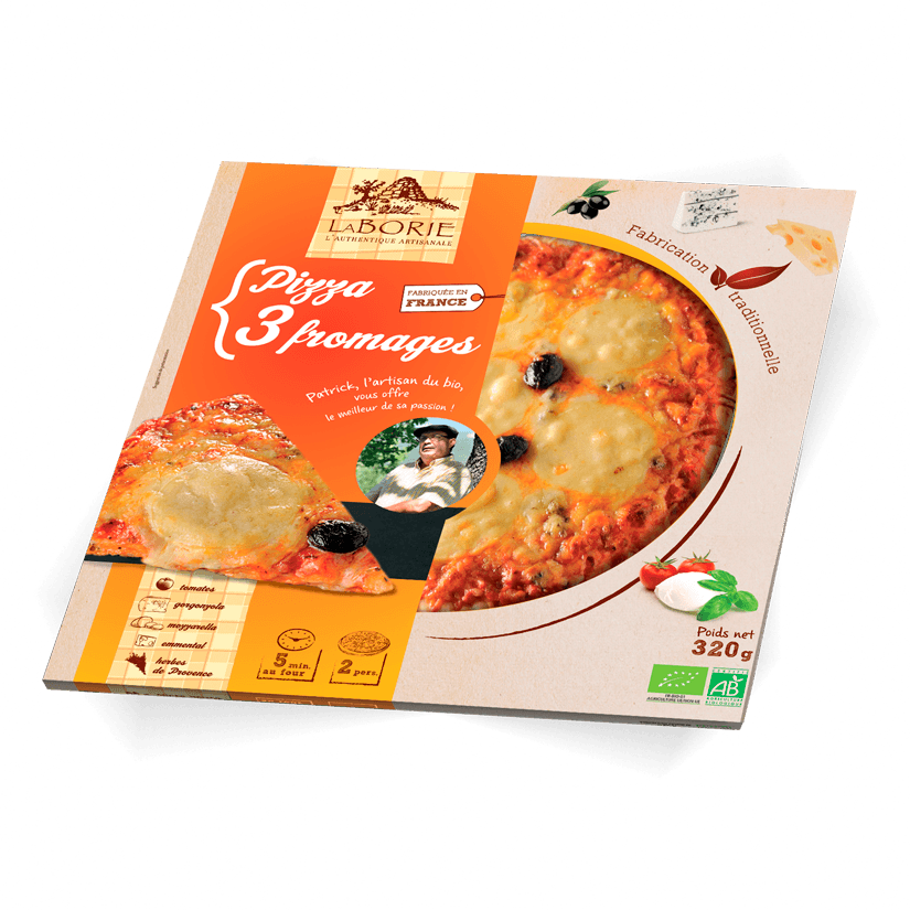 Pack pizza 3 fromages La Borie bio