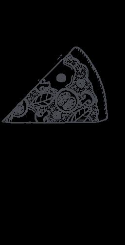 Part de pizza illustration